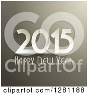 Clipart Of A Happy New Year 2015 Greeting Over Brown Royalty Free Vector Illustration