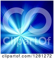 Clipart Of A Bright Blue Solar Burst Background Royalty Free Illustration by Arena Creative