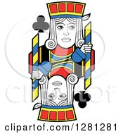 Clipart Of A Borderless Jack Of Clubs Playing Card Royalty Free Vector Illustration