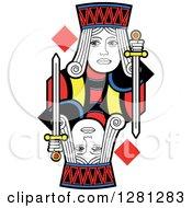Borderless Jack Of Diamonds Playing Card
