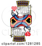 Clipart Of A Borderless Jack Of Hearts Playing Card Royalty Free Vector Illustration