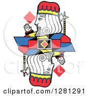 Borderless King Of Diamonds Playing Card by Frisko