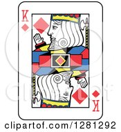 King Of Diamonds Playing Card by Frisko