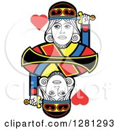 Borderless King Of Hearts Playing Card by Frisko