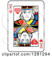 King Of Hearts Playing Card by Frisko