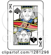 King Of Spades Playing Card by Frisko