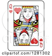 Queen Of Hearts Playing Card by Frisko