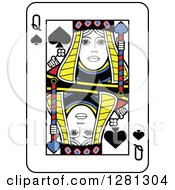 Queen Of Spades Playing Card by Frisko