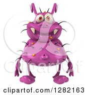 Clipart Of A 3d Purple Germ Virus Royalty Free Vector Illustration by Julos