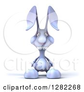 Clipart Of A 3d Blue Bunny Rabbit Royalty Free Illustration by Julos