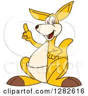 Clipart Of A Happy Kangaroo School Mascot Character With An Idea Royalty Free Vector Illustration