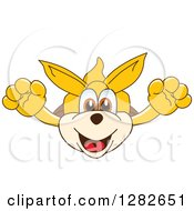 Clipart Of A Happy Kangaroo School Mascot Character Leaping Outward Royalty Free Vector Illustration by Toons4Biz