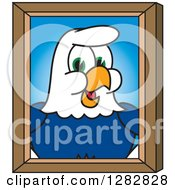 Clipart Of A Happy Seahawk School Mascot Character Portrait Royalty Free Vector Illustration by Toons4Biz