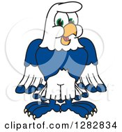 Clipart Of A Happy Seahawk School Mascot Character Royalty Free Vector Illustration by Toons4Biz