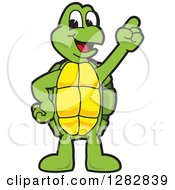 Clipart Of A Happy Turtle School Mascot Character With An Idea Royalty Free Vector Illustration