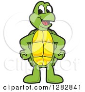 Clipart Of A Happy Turtle School Mascot Character Royalty Free Vector Illustration