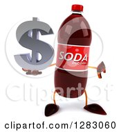 Clipart Of A 3d Soda Bottle Character Holding A Thumb Down And A Dollar Symbol Royalty Free Illustration