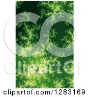 Clipart Of A Green Fractal Spiral Background Royalty Free Illustration