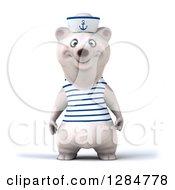 3d Polar Bear Sailor