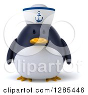 Clipart Of A 3d Sailor Penguin Royalty Free Illustration