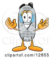 Poster, Art Print Of Wireless Cellular Telephone Mascot Cartoon Character With Welcoming Open Arms