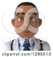 3d Young Black Male Doctor Avatar