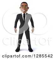 Clipart Of A 3d Young Black Businessman Royalty Free Illustration by Julos