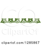 Clipart Of A Green Celtic Knot Rule Border Design Element 3 Royalty Free Vector Illustration