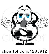 Clipart Of A Soccer Ball Number Eight Character Royalty Free Vector Illustration