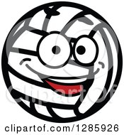 Clipart Of A Happy Smiling Volleyball Character Royalty Free Vector Illustration