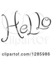 Clipart Of Written Gray Hello Text Royalty Free Vector Illustration by Cherie Reve