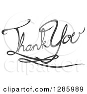 Clipart Of Written Gray Thank You Text Royalty Free Vector Illustration by Cherie Reve