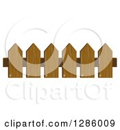 Clipart Of A Wooden Picket Fence Royalty Free Vector Illustration