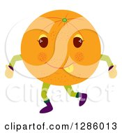 Clipart Of A Happy Orange Character Giving Two Thumbs Up Royalty Free Vector Illustration by Cherie Reve