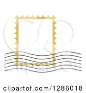 Clipart Of A Postal Stamp Frame And Postmark Royalty Free Vector Illustration by Cherie Reve