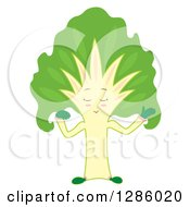 Clipart Of A Talking Silver Beet Chard Head Royalty Free Vector Illustration by Cherie Reve