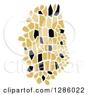 Clipart Of A Black And Gold Abstract Skin Design Royalty Free Vector Illustration