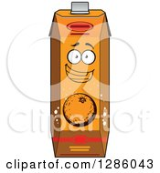 Clipart Of A Happy Carton Of Orange Juice 4 Royalty Free Vector Illustration