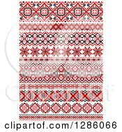 Clipart Of Red Black And White Native American Border Designs 3 Royalty Free Vector Illustration by Vector Tradition SM