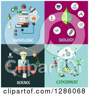 Clipart Of Knowledge Biology Science And Experiment Designs Royalty Free Vector Illustration by Vector Tradition SM