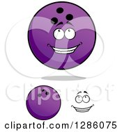 Poster, Art Print Of Face And Purple Bowling Balls