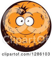 Clipart Of A Smiling Happy Orange Character Royalty Free Vector Illustration by Vector Tradition SM