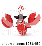 3d Happy Breton Lobster Welcoming