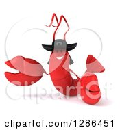 3d Happy Breton Lobster Presenting
