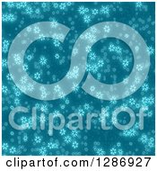 Clipart Of A Blue Seamless Snowflake Background Royalty Free Illustration