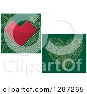 Clipart Of Circuit Heart Motherboards Royalty Free Vector Illustration by Vector Tradition SM