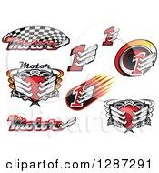 Clipart Of Motorsport Racing Muffler Designs Royalty Free Vector Illustration by Vector Tradition SM