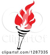 Clipart Of A Black Torch With Red Flames 30 Royalty Free Vector Illustration