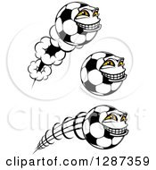 Grinning Soccer Ball Characters