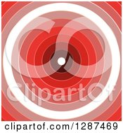 Clipart Of A Background Of Red And White Rings Forming A Dartboard Or Tunnel Royalty Free Illustration